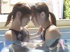 【レズ】例のプールで競泳水着の可愛いビアン女子たちが濃密にキスを交わしながら悶々と求め合っちゃうレズプレイ erovideo女性向け無料アダルト動画